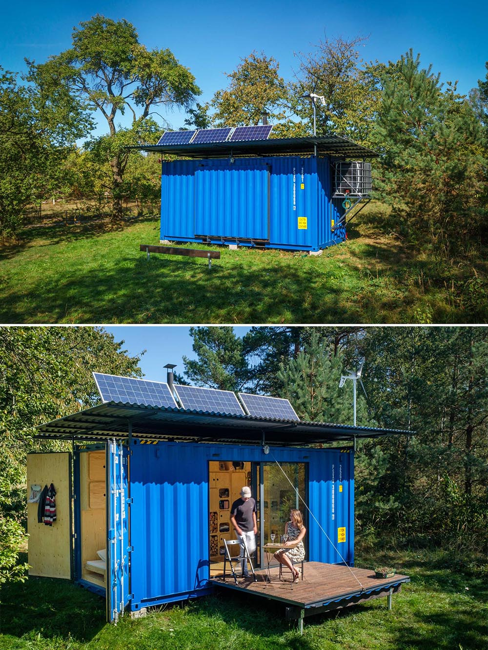 A tiny house made from a small shipping container, that's also completely off-grid.