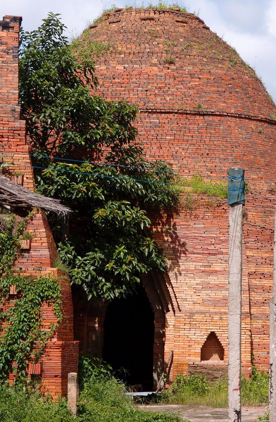 Vietnamese traditional brick kiln.