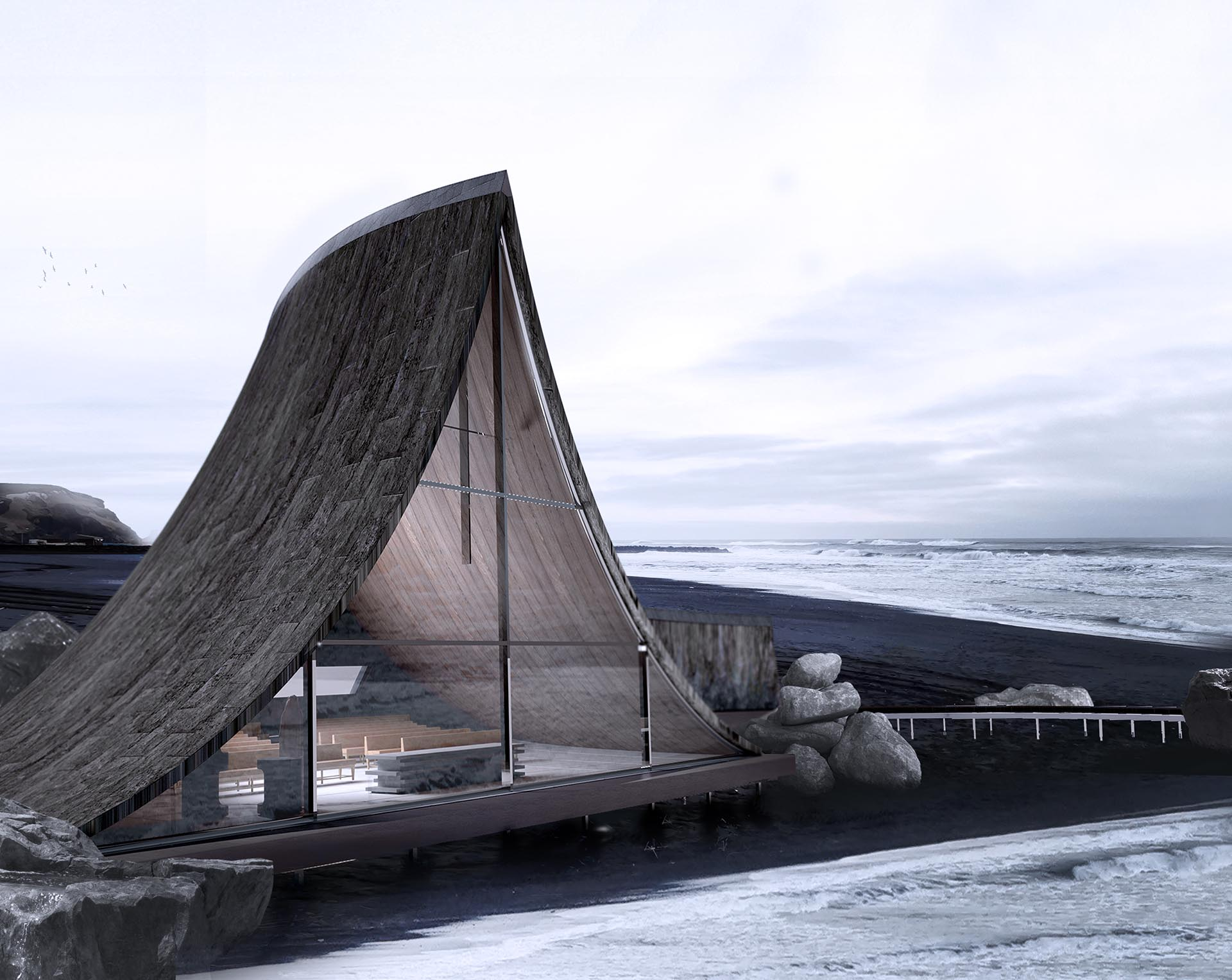 Coast Whale Chapel by Jinyu Zhang