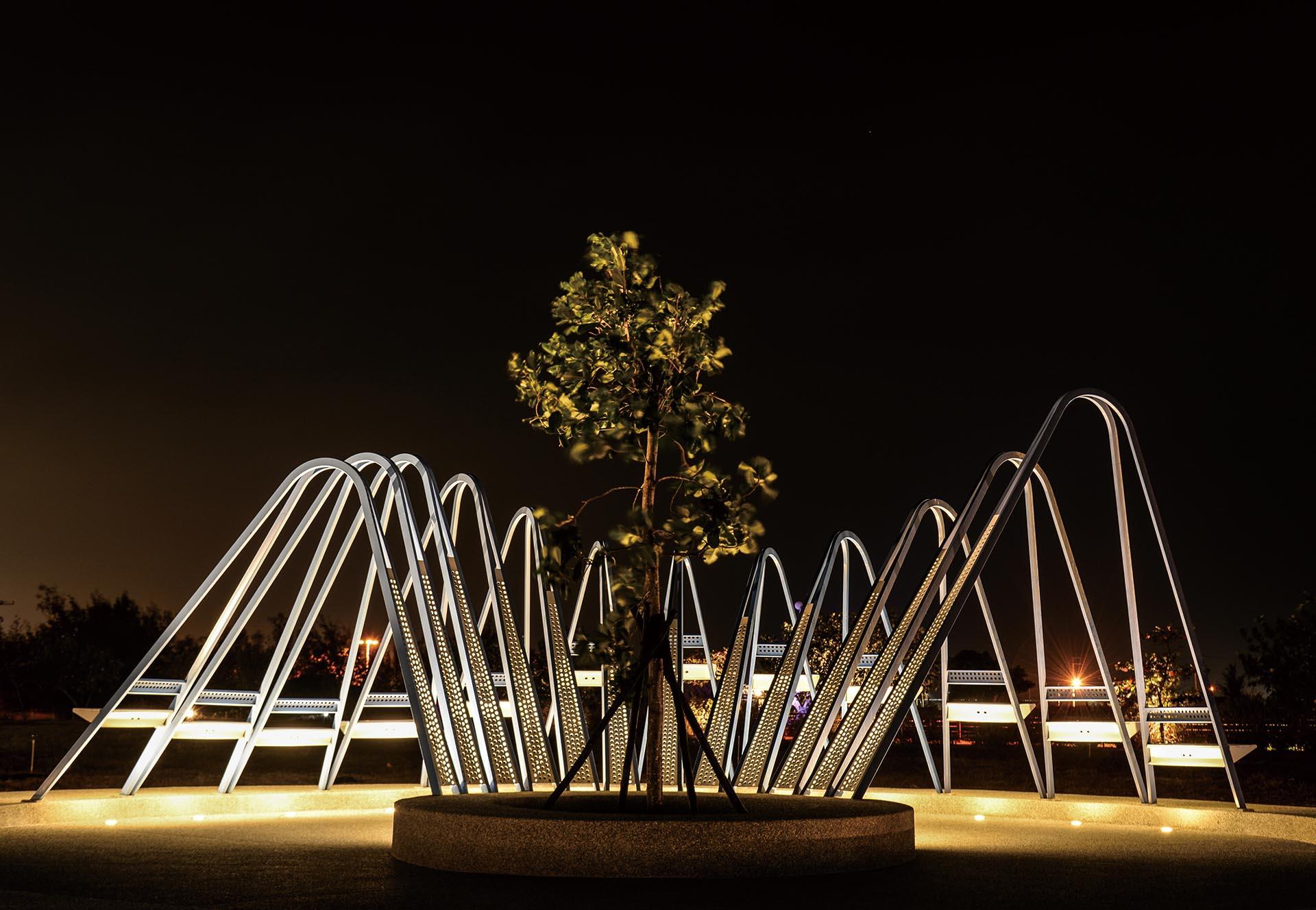 Wonderland Landscape Installation by Sammy Liu