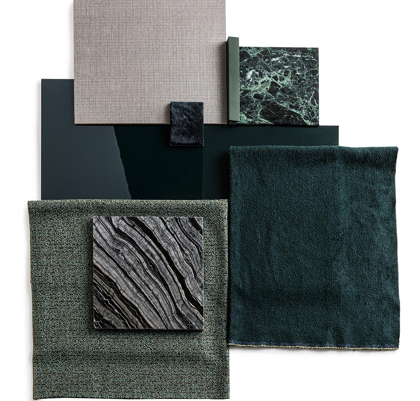Modern furniture fabric choices from Italian company Molteni&C.