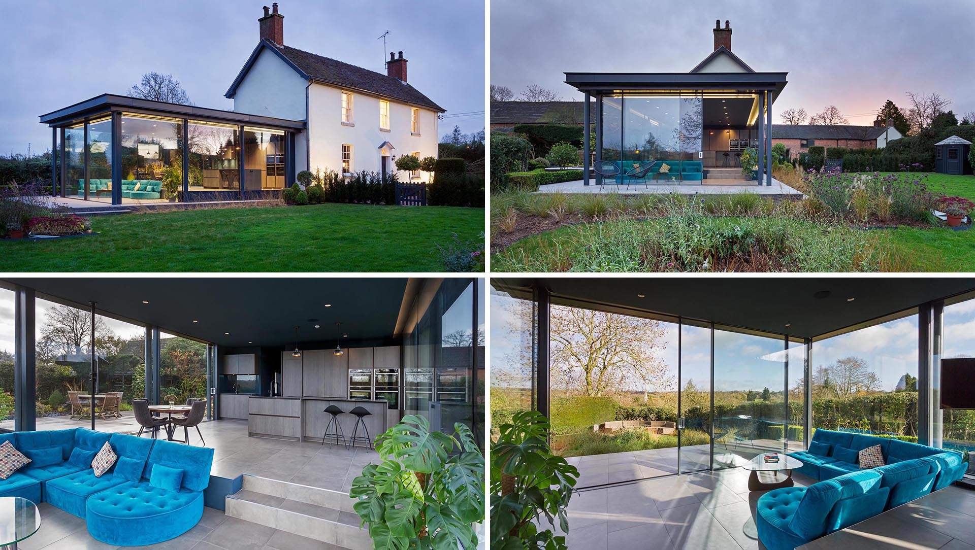 A Glass Enclosed Extension Added More Living Space To This Home