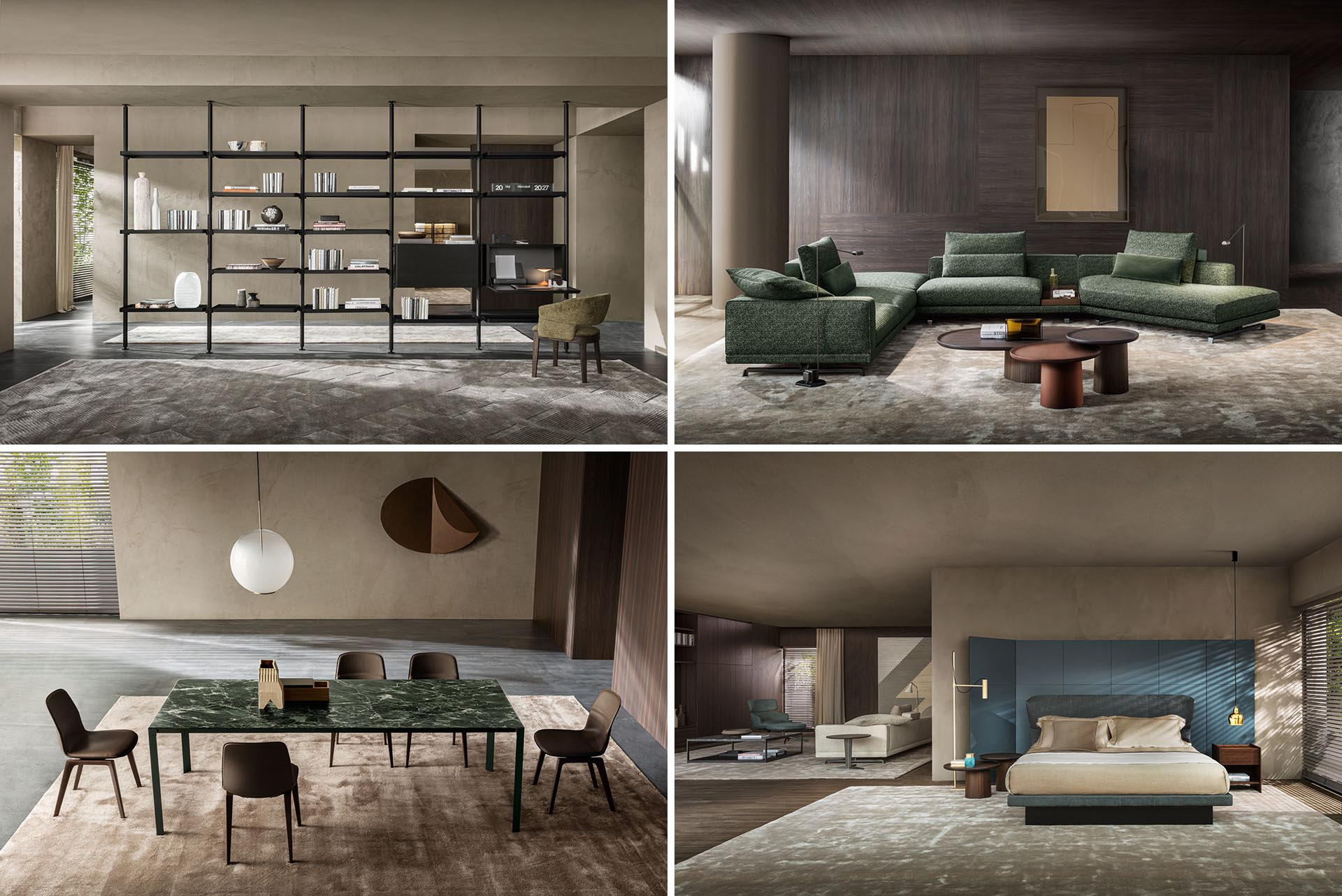 Modern furniture designs from Italian company Molteni&C.