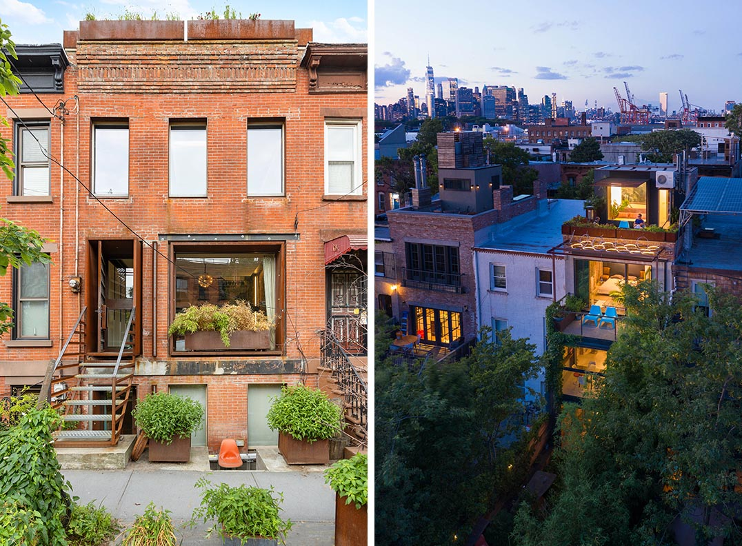 Architecture and interior design firm space4a, has completed the remodel of a brick home in the the Red Hook neighborhood of New York.