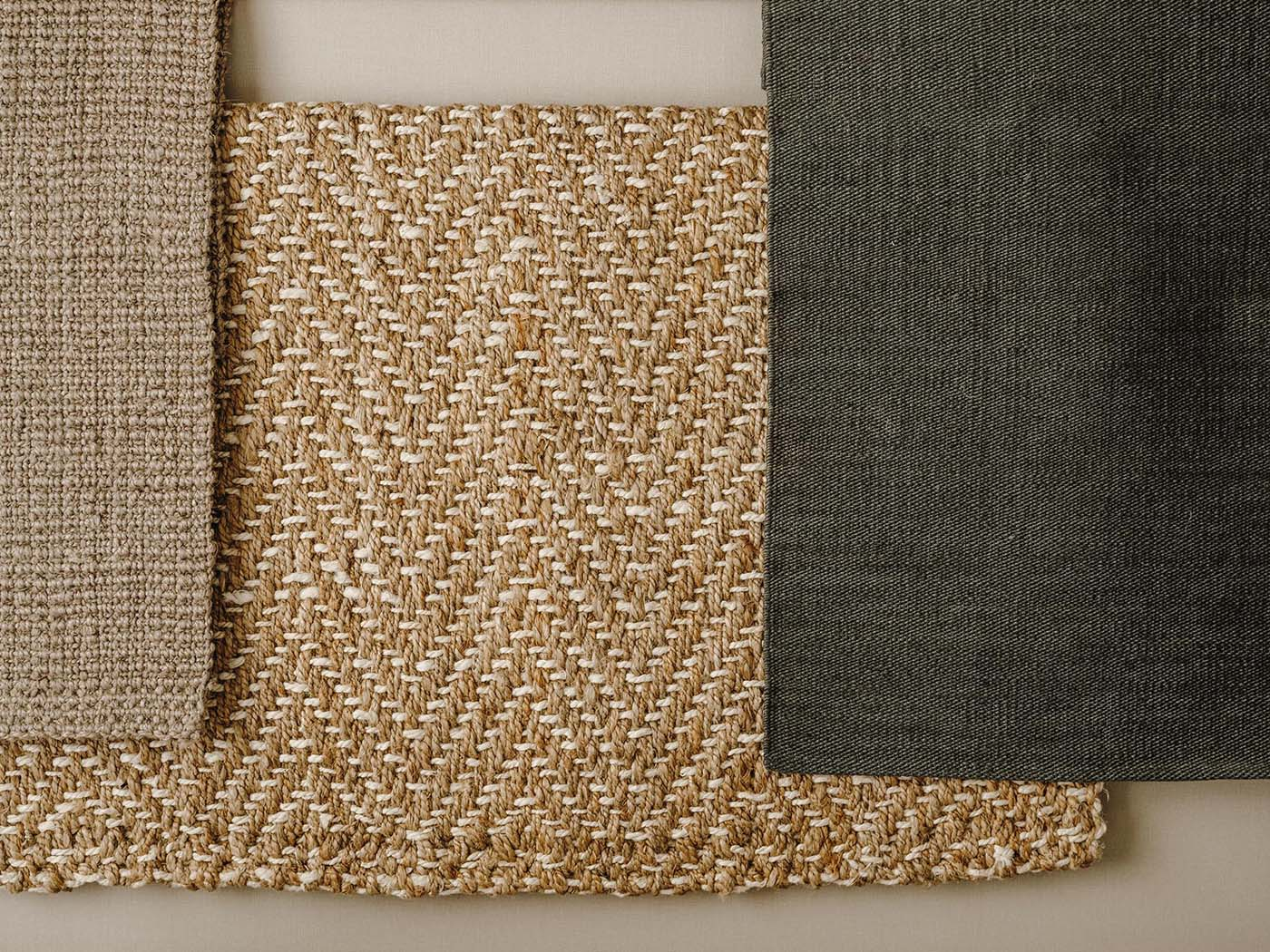 Natural fabric with different textures.