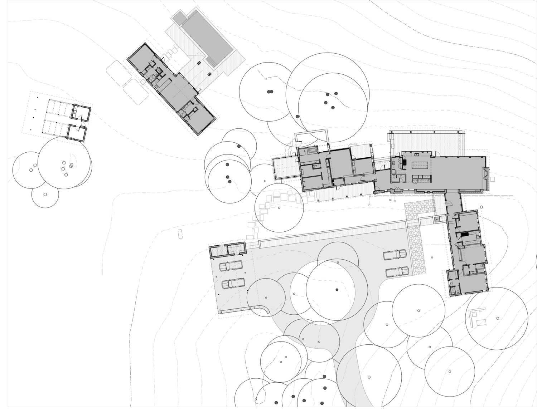 The floor plan of a Texas ranch.