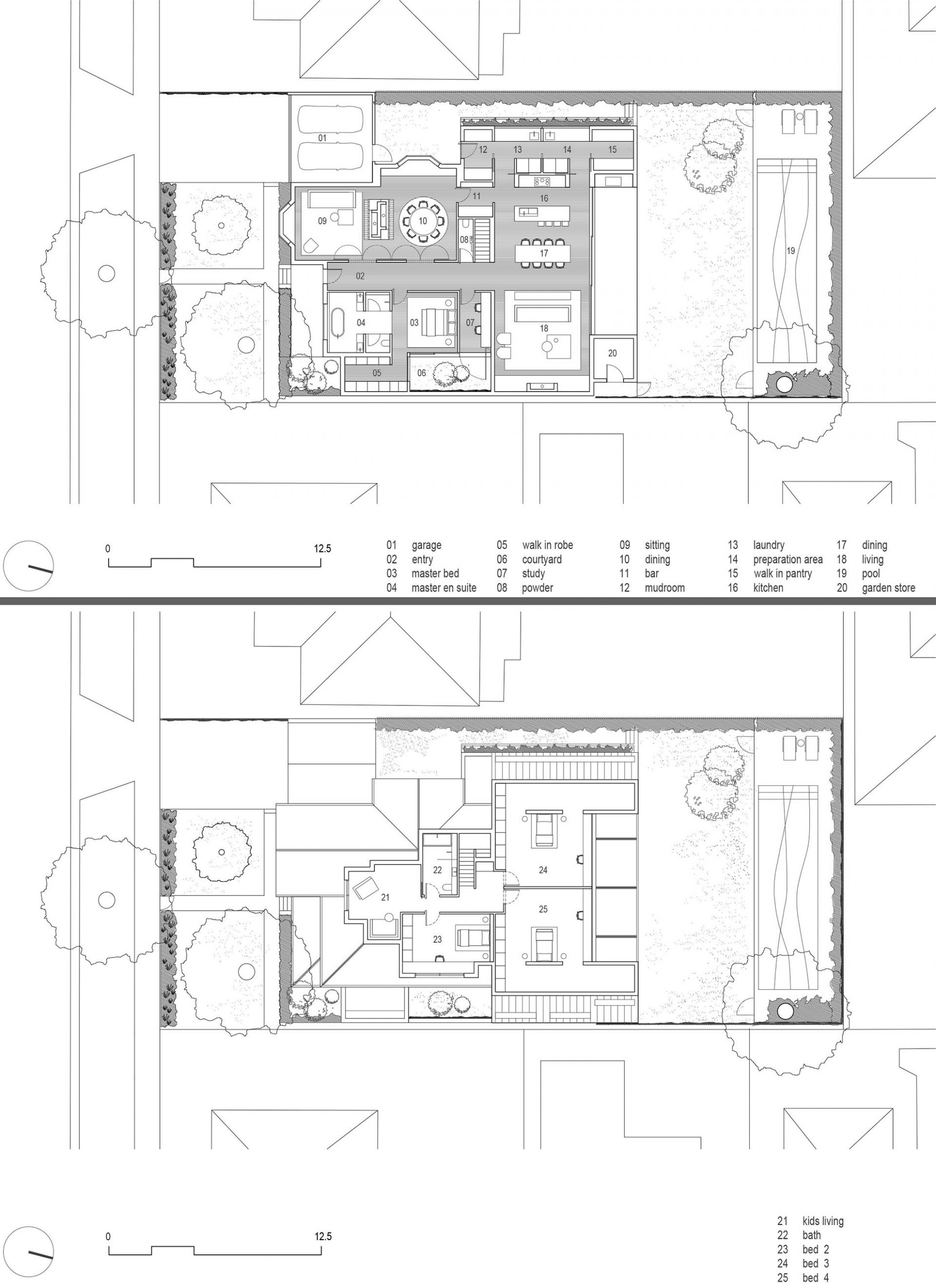 The floor plan of an Australian Federation house with a rear addition.
