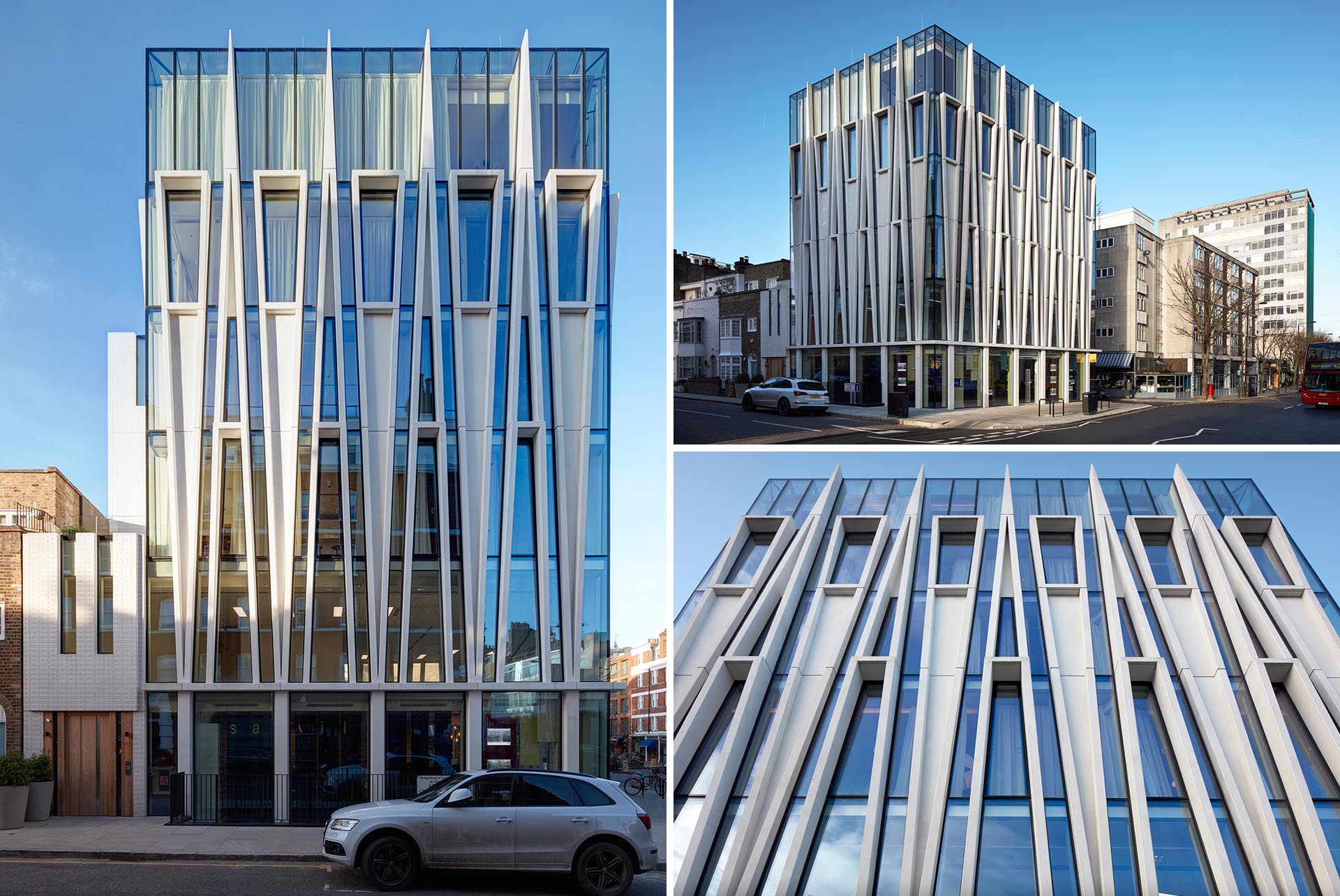 Triangular Accents Inspired By Candles Adorn This New Building In London