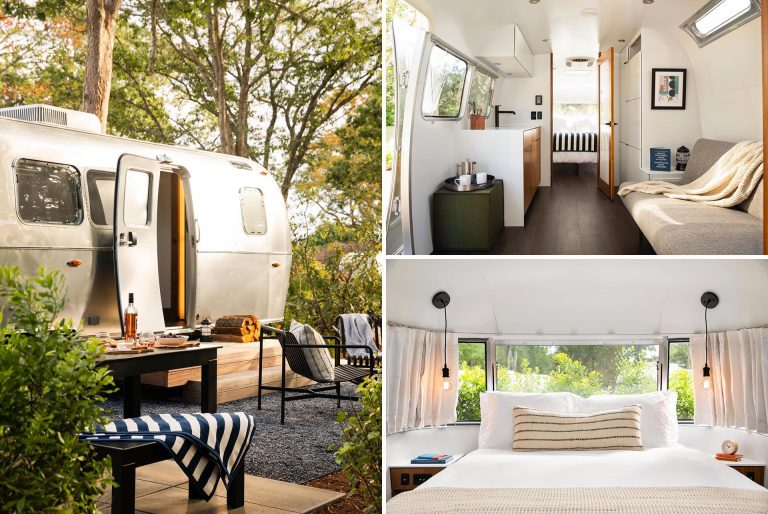 This Airstream Camper Was Updated With A Modern Interior To Create A Unique Accommodation Option