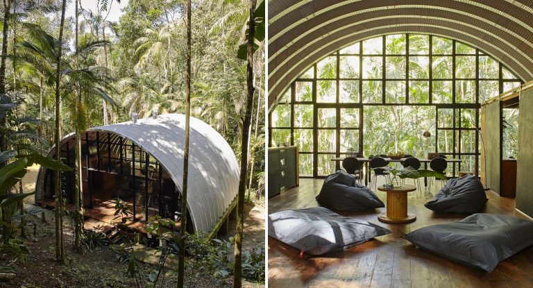 This Arch-Shaped Home Has A Modular Design So It Can Be Disassembled And Rebuilt In A New Location
