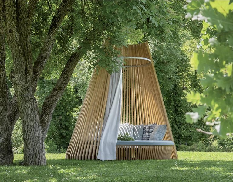 This Modern Outdoor Lounge Draws Inspiration From The Shape Of A Tipi