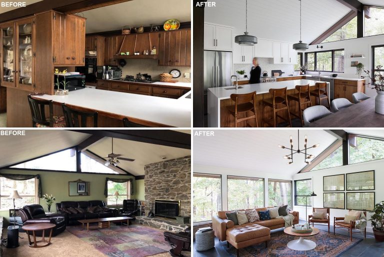 Before & After - A New Open Floor Plan Is An Important Feature For This Renovated Home
