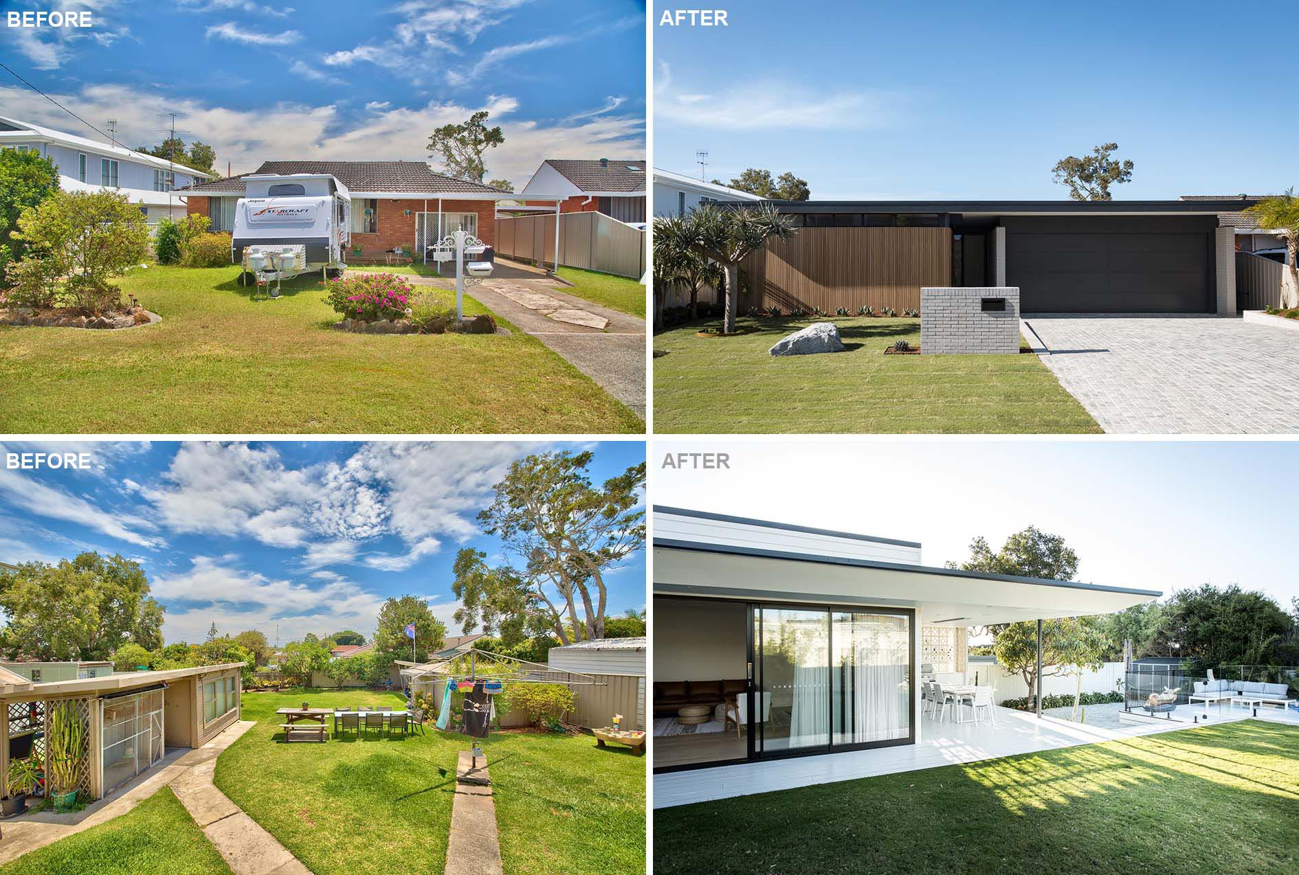 Fabric Architecture have completed the modern remodel of an 70's red brick Australian classic which had come to the end of its life.