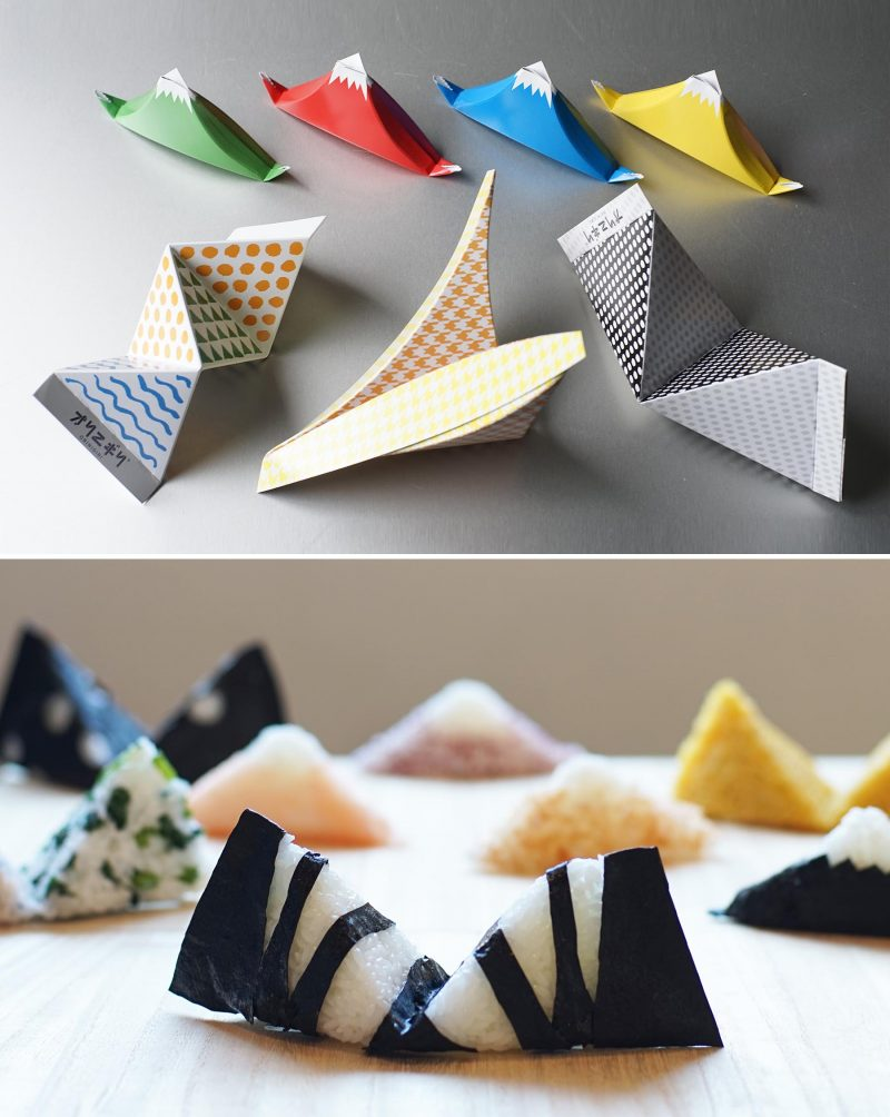 ORINIGIRI is a Food Art which is the cross between Origami and Onigiri. You will enjoy making unique shapes of rice balls by playing folding paper.