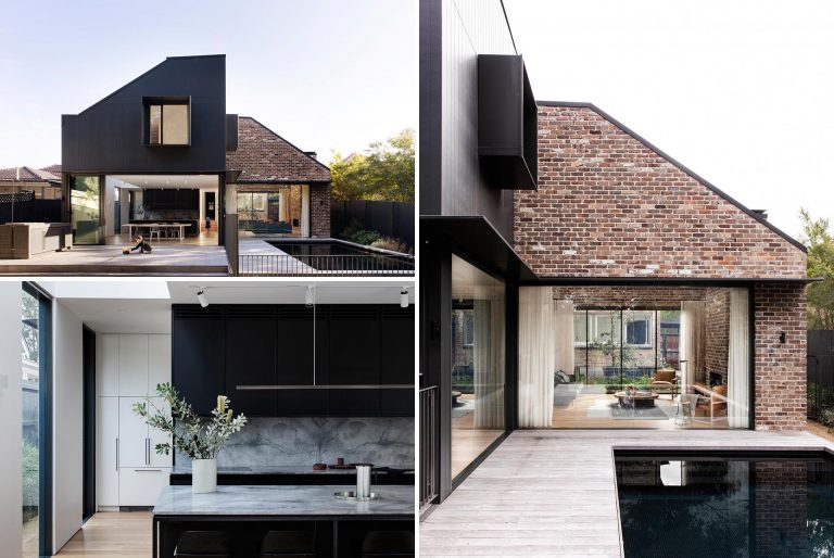 A Couple Of Protruding Windows Are A Feature Of This Modern Home Addition