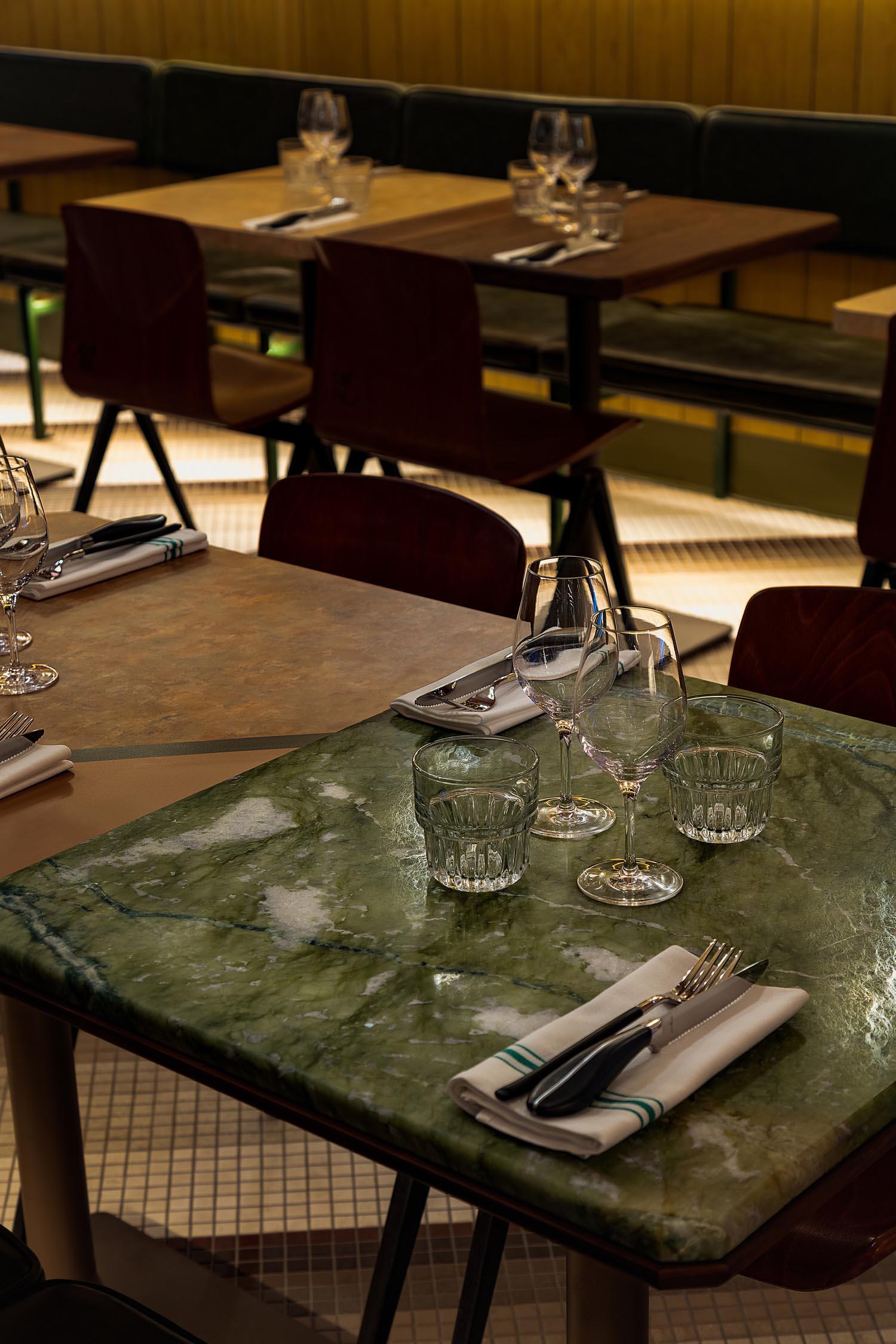 A contemporary restaurant table design.