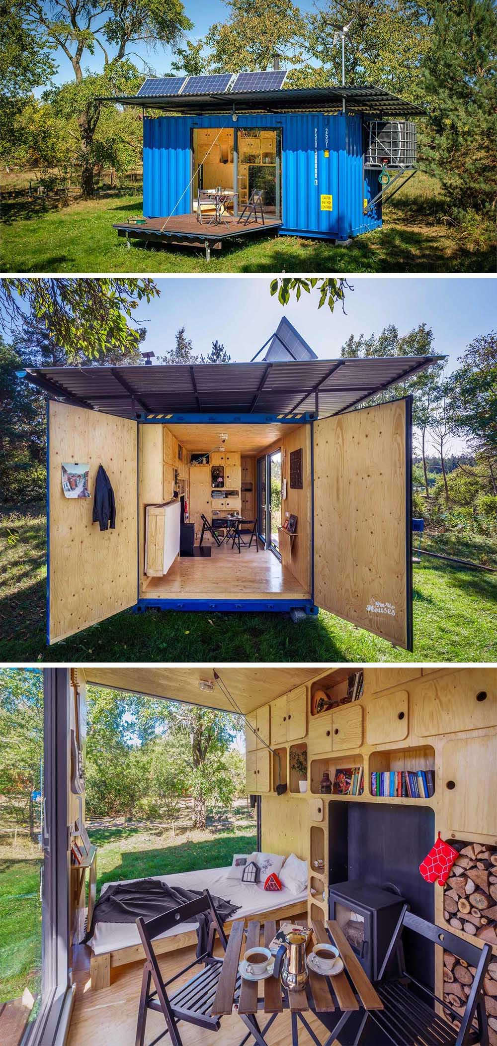 Design studio Pin-Up Houses has designed a tiny house that measures in at just 20ft x 8ft and is made from a small shipping container.