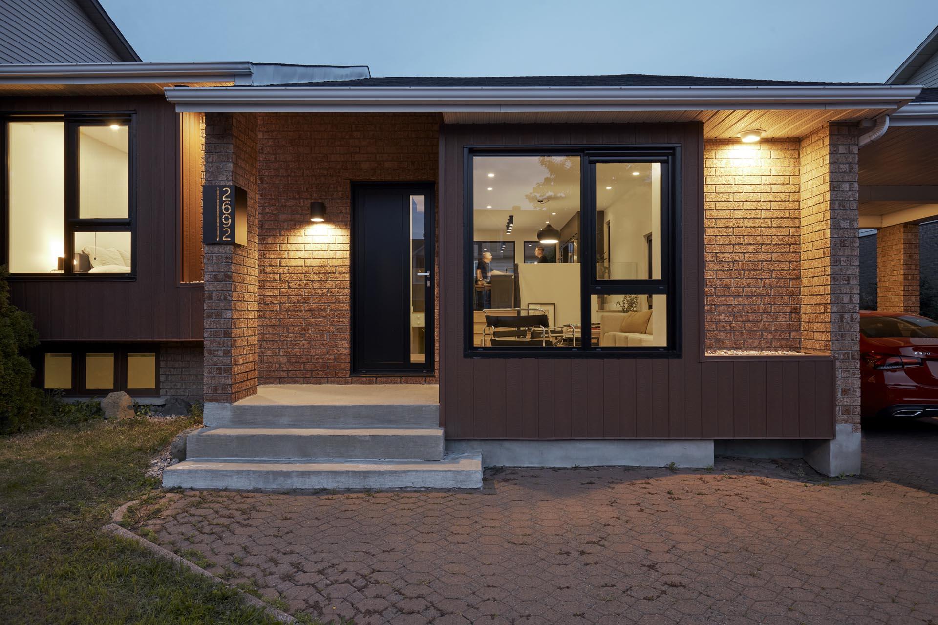 A remodeled split-level home.