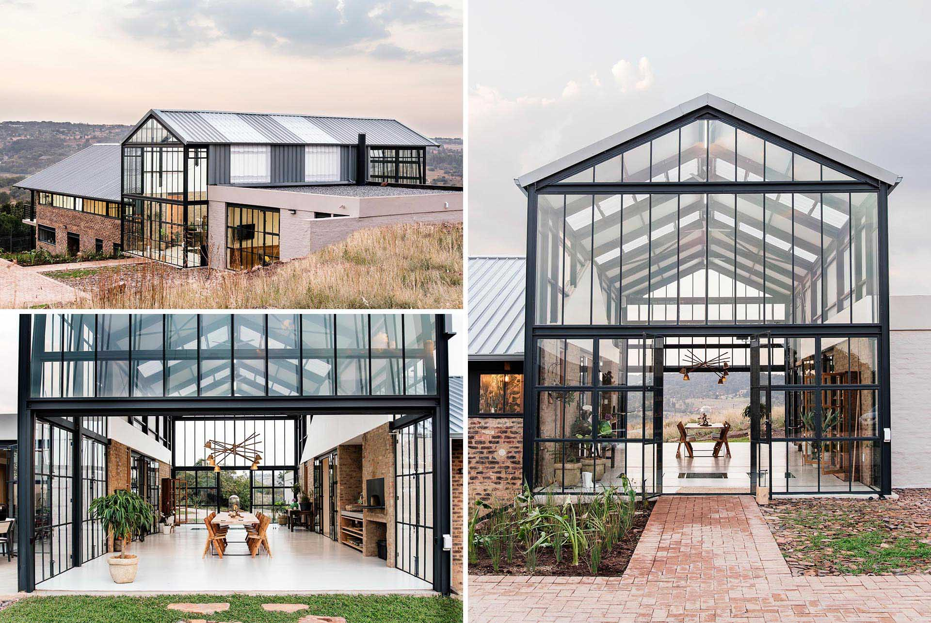 Key to the design of the home is the conservatory, which has been built with solid and translucent roof sheeting and sufficient insulation to optimize passive climate control.