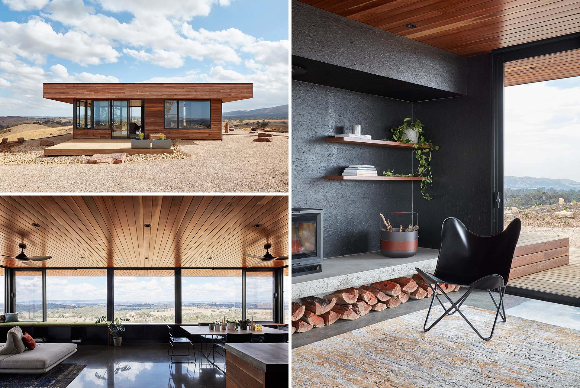 A modern and small house designed as a self-sufficient rural retreat with a minimal environmental footprint.