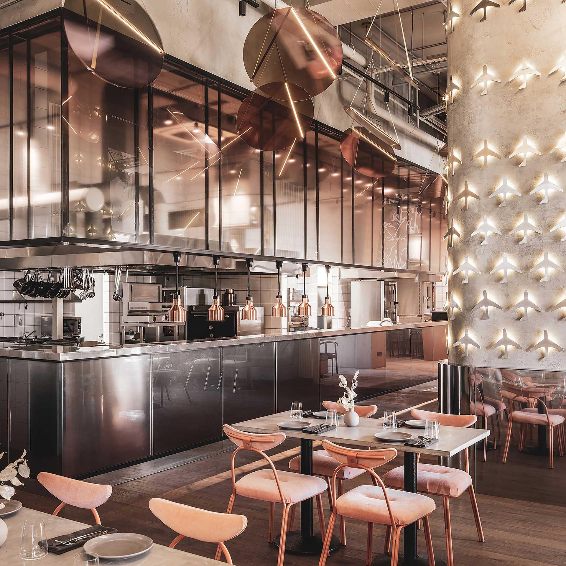 Polyot Restaurant by Julien Albertini and Alina Pimkina.