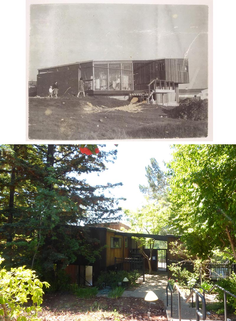 Before Photos - The original home designed by Roger Lee in 1962 included dated materials and finishes, small rooms, single-paned glass, and uninsulated walls.