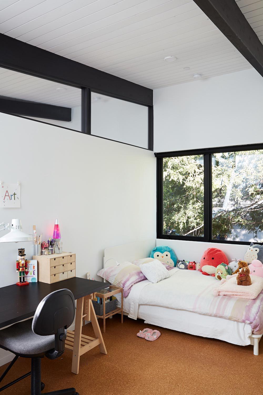A contemporary kids bedroom.
