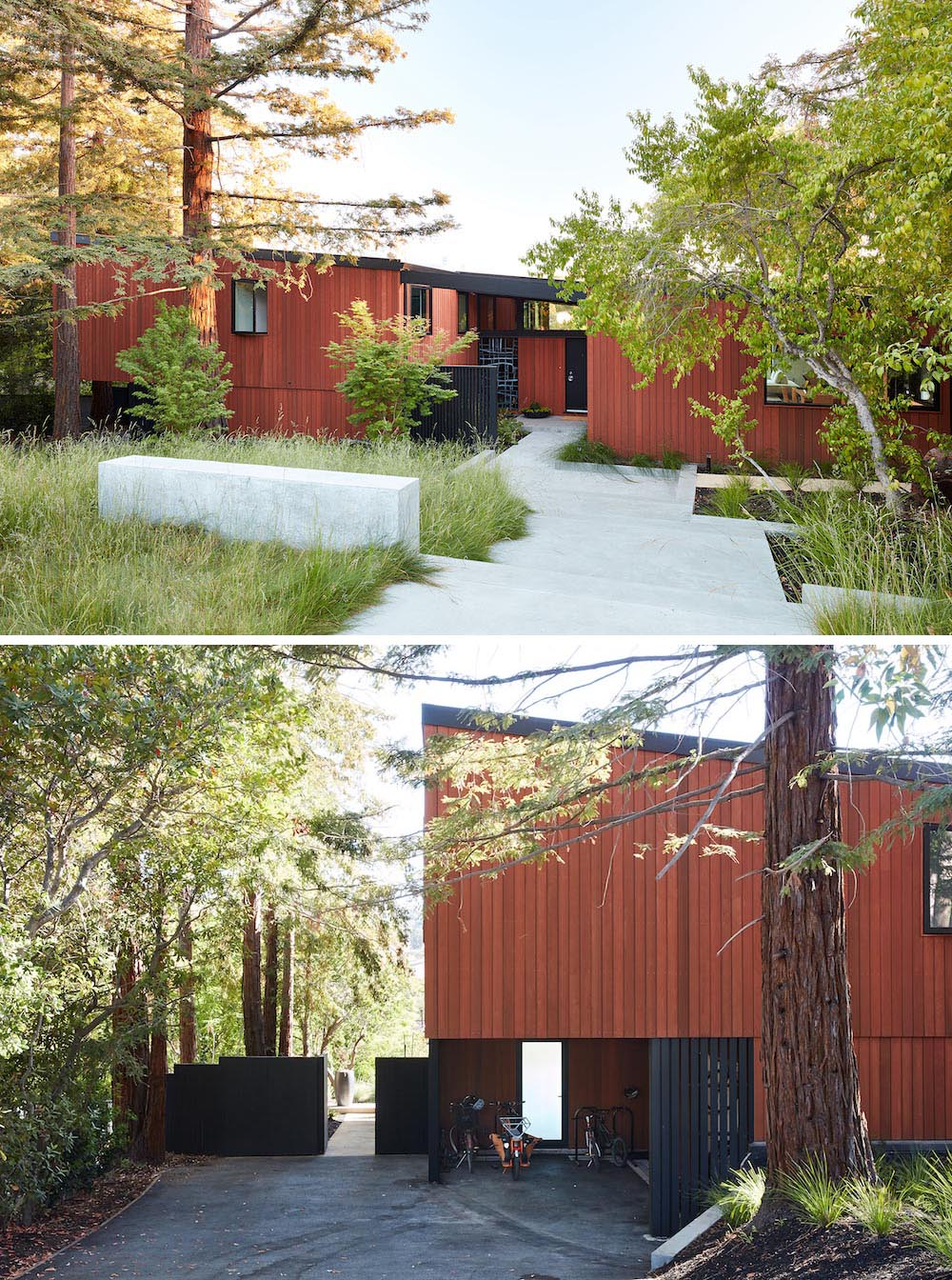A contemporary remodel to bring the house into the 21st century and provide the living area needed for the homeowners.