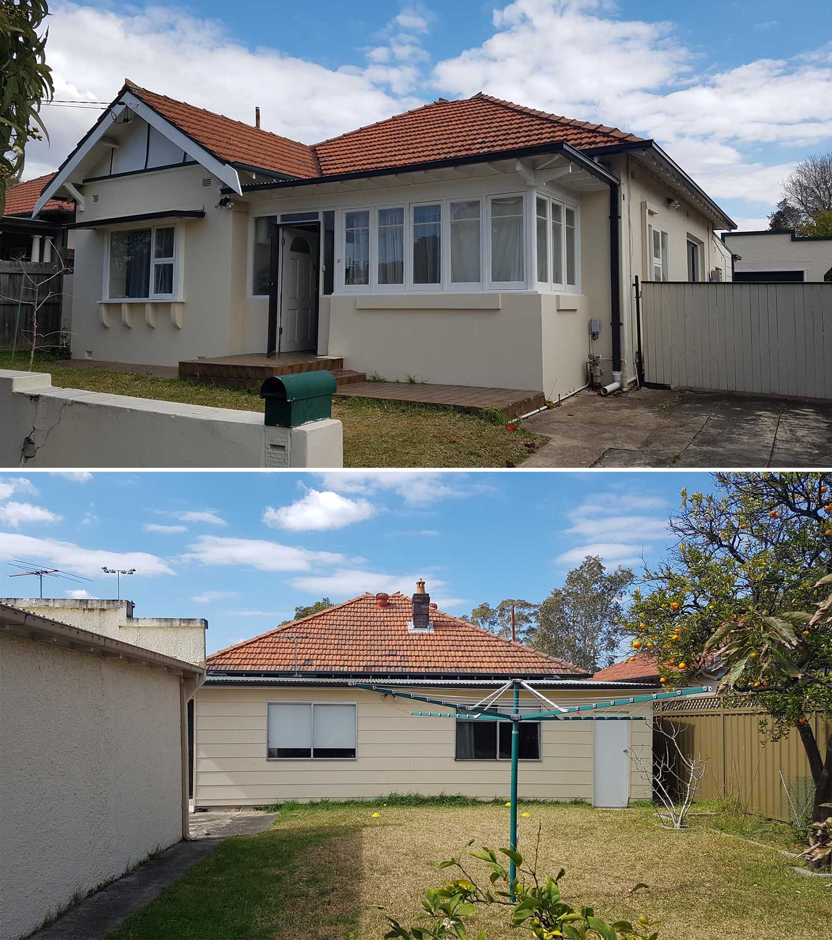 BEFORE PHOTO - A traditional federation home in Sydney, Australia.