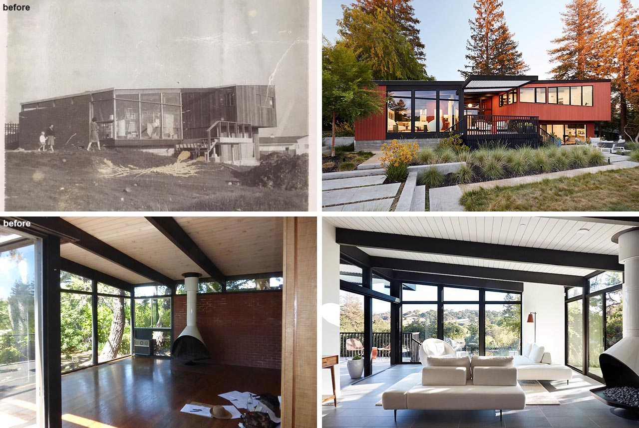 The contemporary remodel of a Roger Lee designed house from 1962.