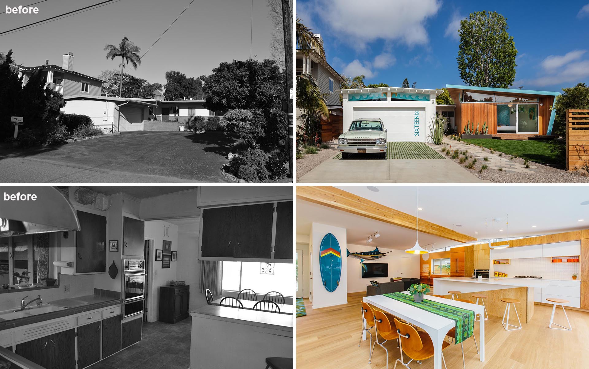 Surfside Projects has completed the renovation of a mid-century modern home.