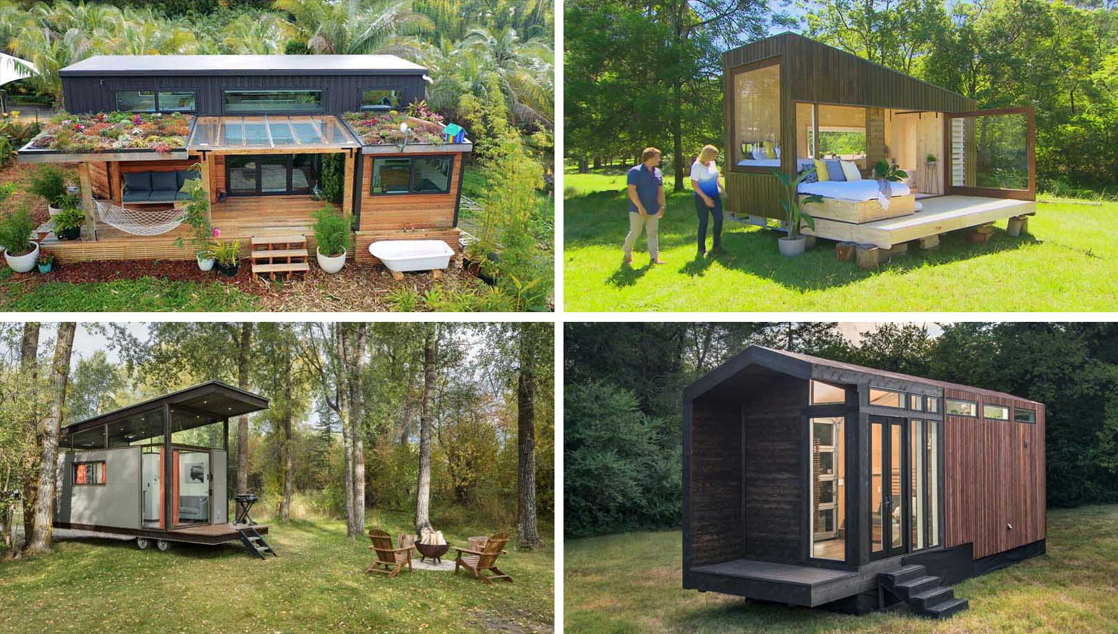Tiny homes are an alternative way of living small. With a variety of designs and shapes, each of them are unique in their own way and include a variety of features that make the small space very efficient.
