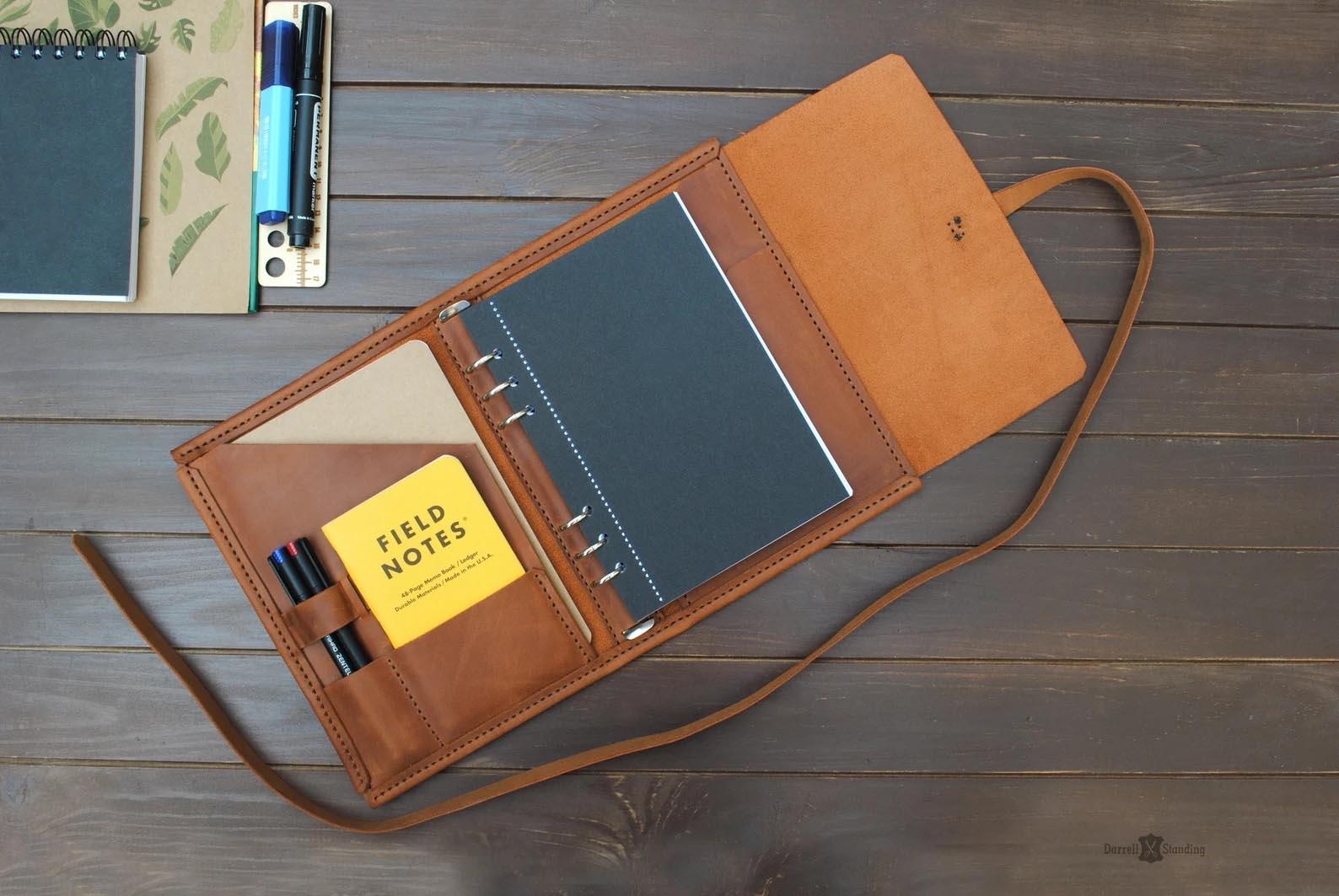 Modern Gift Ideas - Leather Binder.