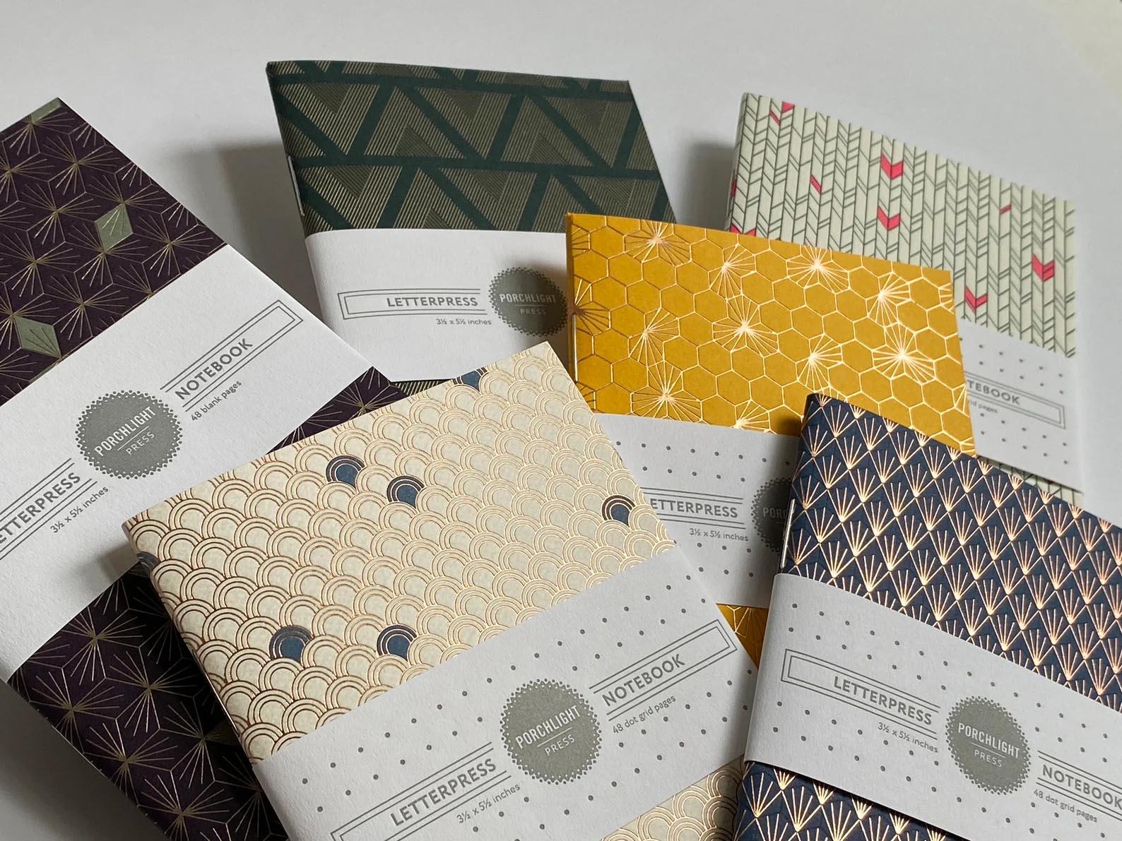 Modern Gift Ideas - Geometric Pocket Notebooks.