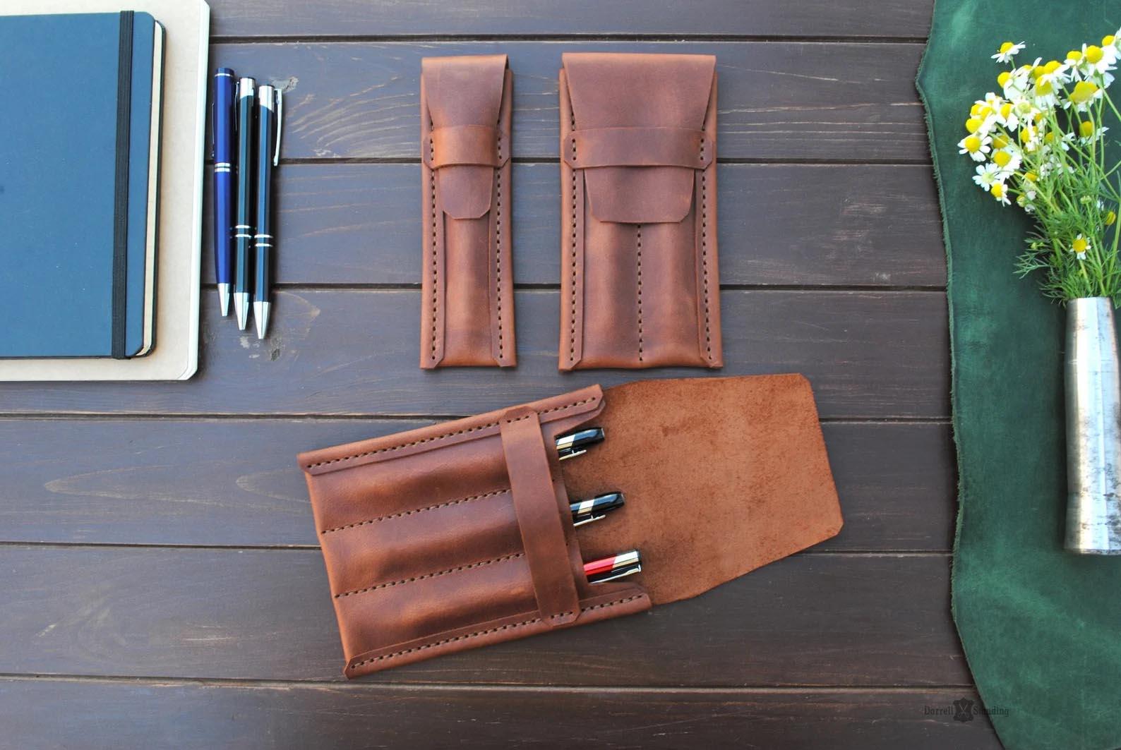 Modern Gift Ideas - Leather Pen Case.
