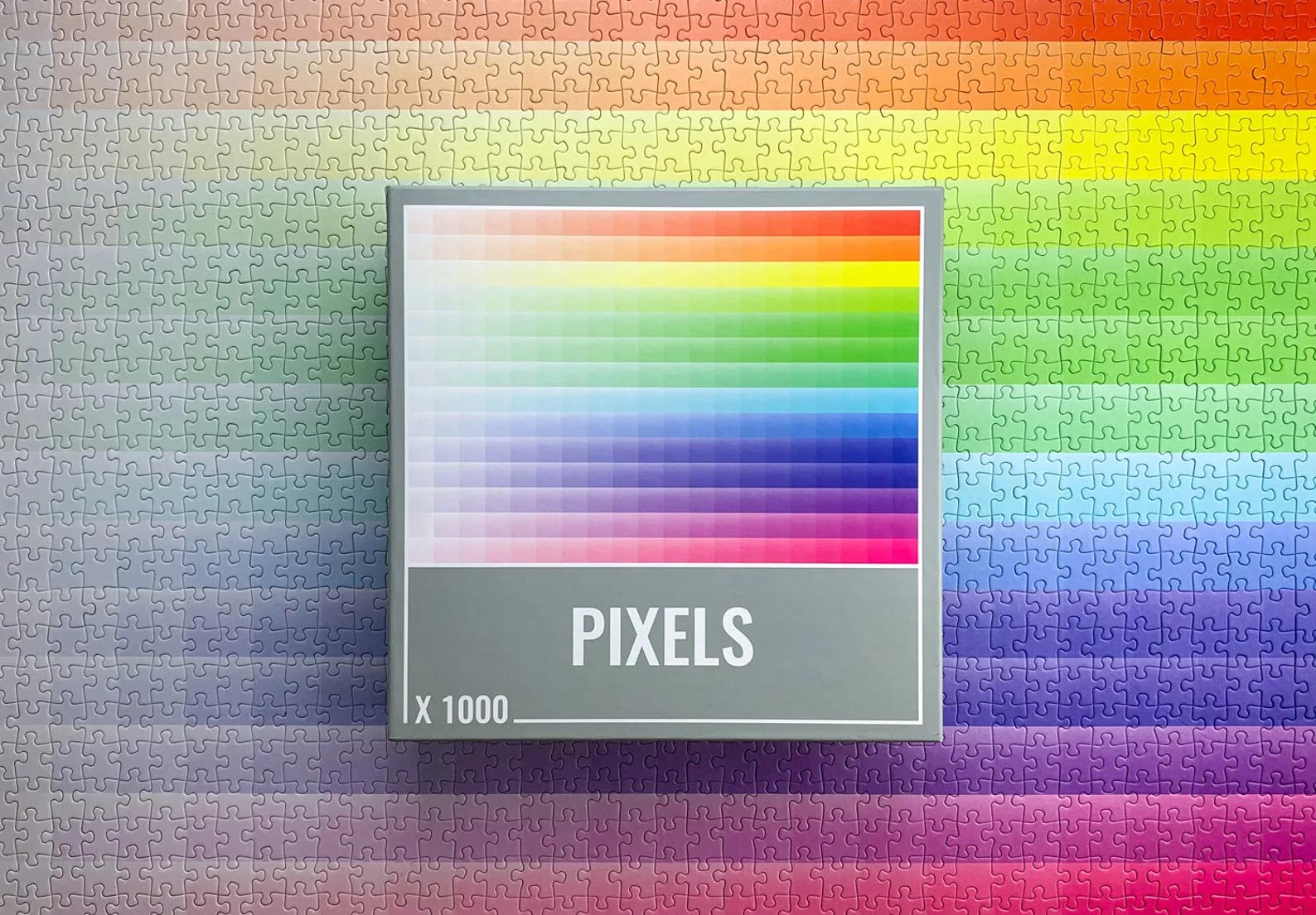 Modern Gift Ideas - Pixels 1000-piece gradient puzzle.
