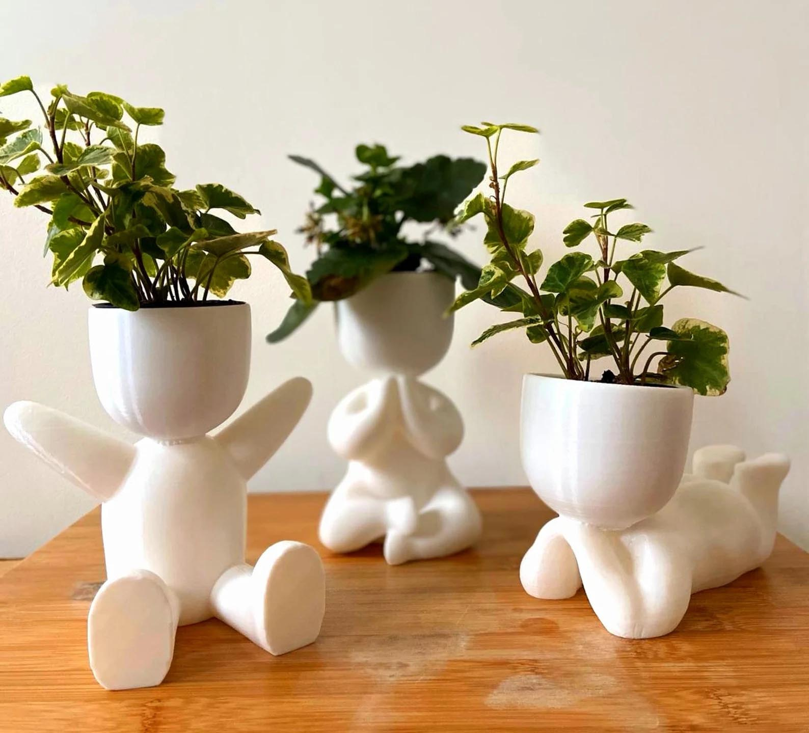 Modern Gift Ideas - Figure planters.
