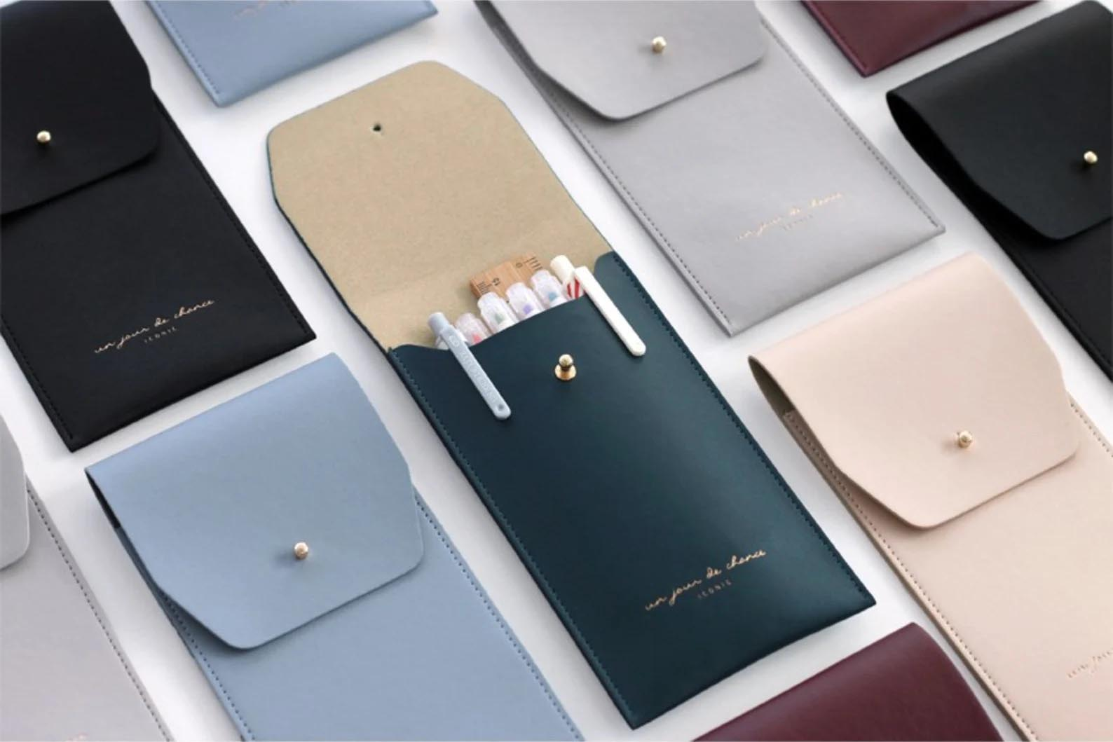 Modern Gift Ideas - Vegan Leather Pen Case.
