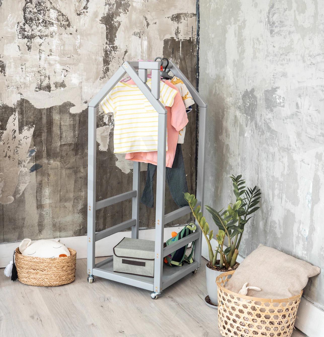 Storage Idea - Modern kid's clothes rack.