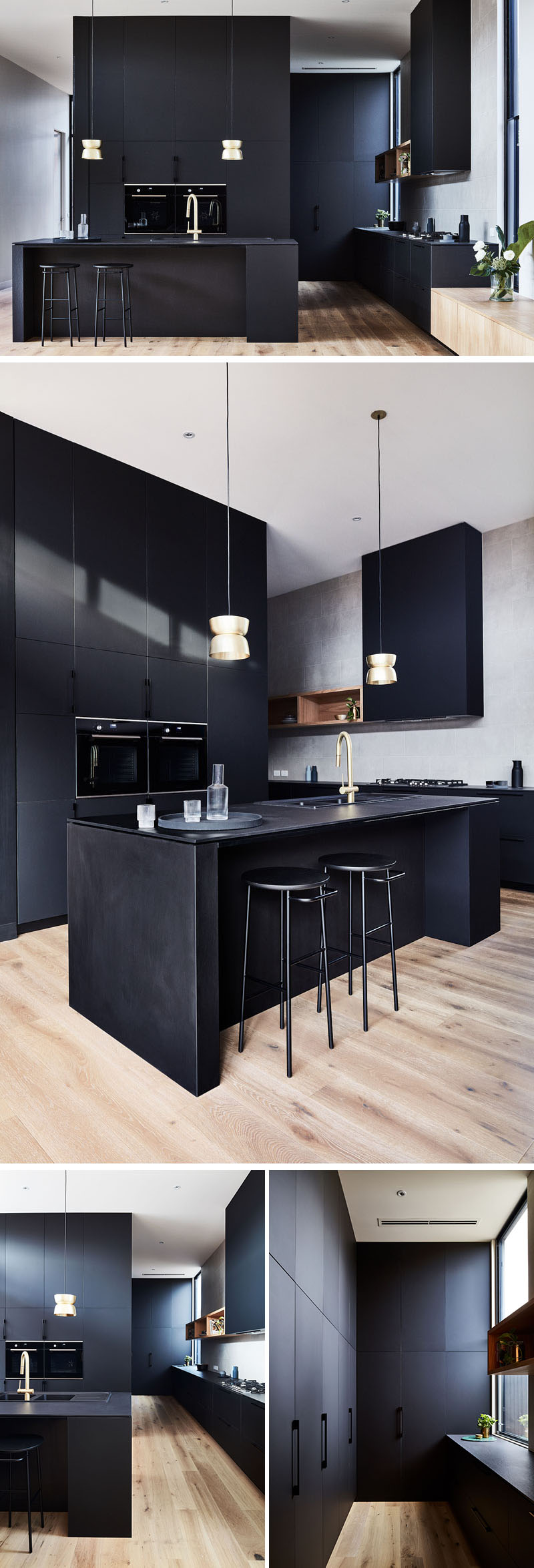 LifeSpaces Group, a building company, have worked together with Auhaus Architecture, to design and build a new house with a black kitchen.