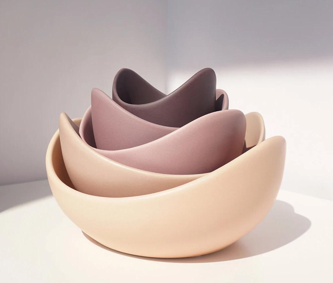 Modern Fall Decor Ideas - Ceramic Lotus Bowls