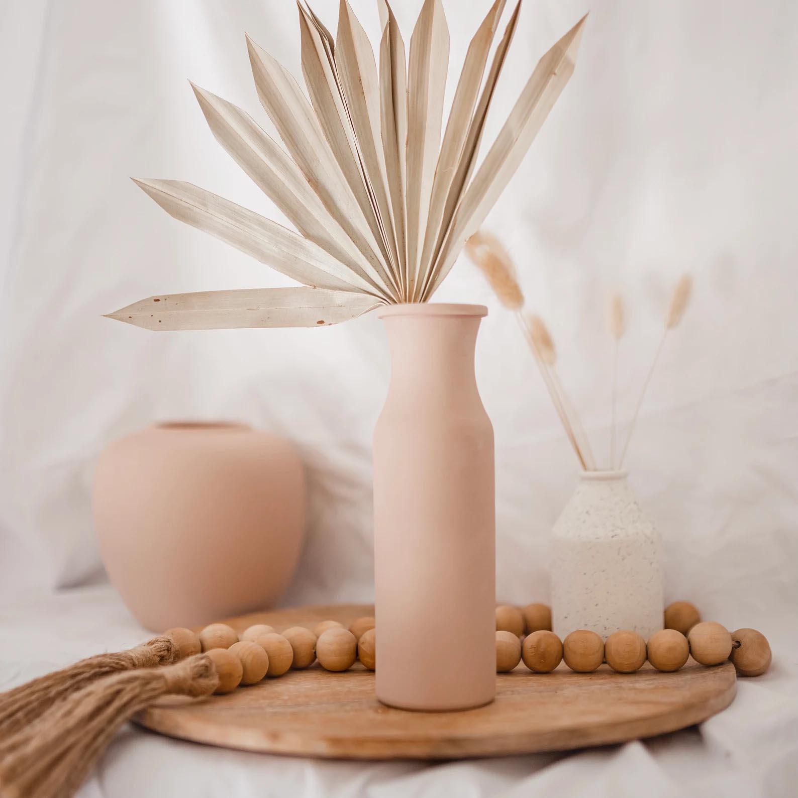 Modern Fall Decor Ideas - A matte hand painted vase.