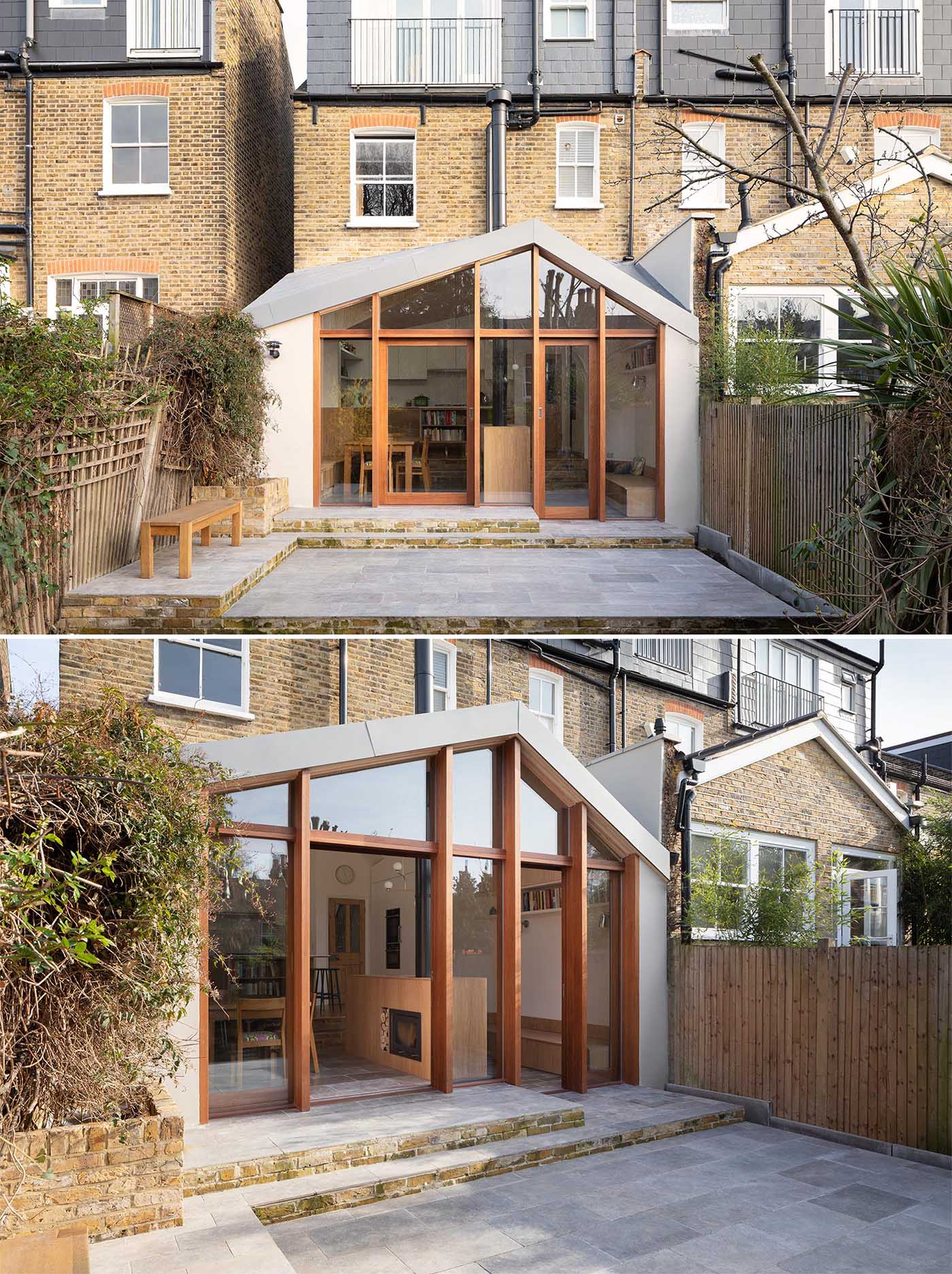 Turner Architects has recently completed a new addition for a growing family that needed a larger kitchen and wanted a family room that opened up the garden.