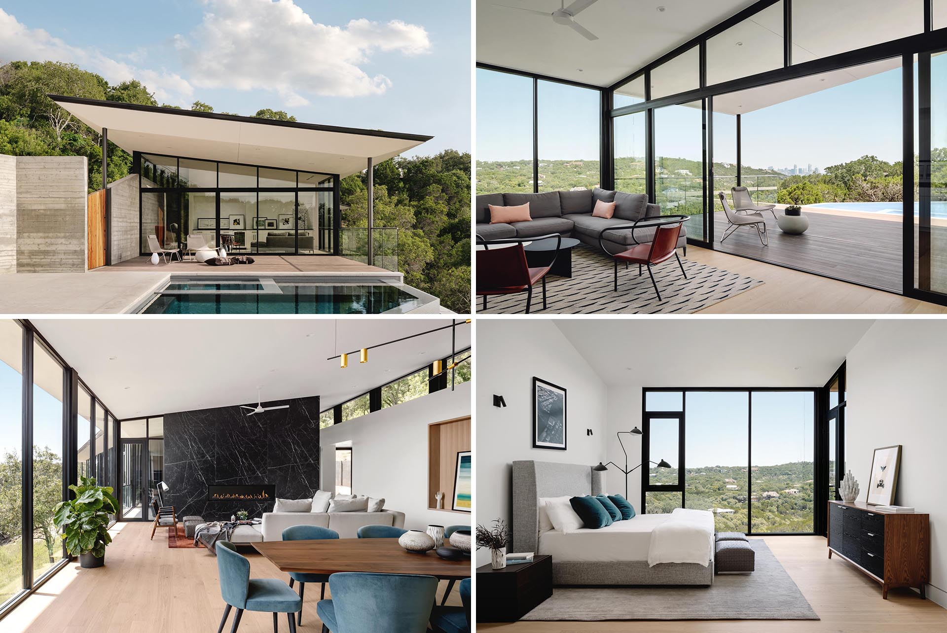 Ravel Architecture has completed a modern home in Austin, Texas, that's been designed with a boomerang-inspired shape and plenty of windows.
