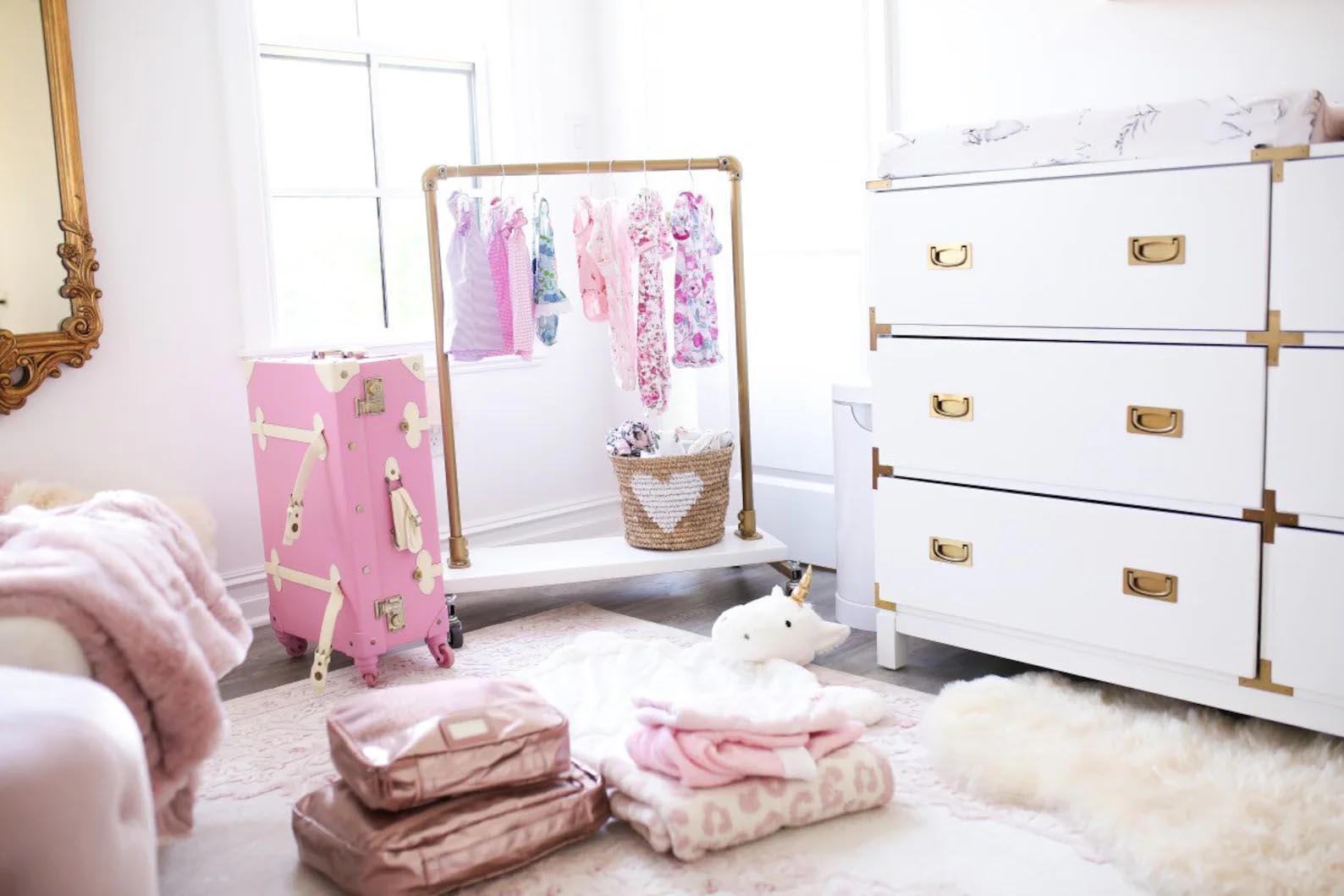 Storage Idea - Modern kid's freestanding clothes rack.