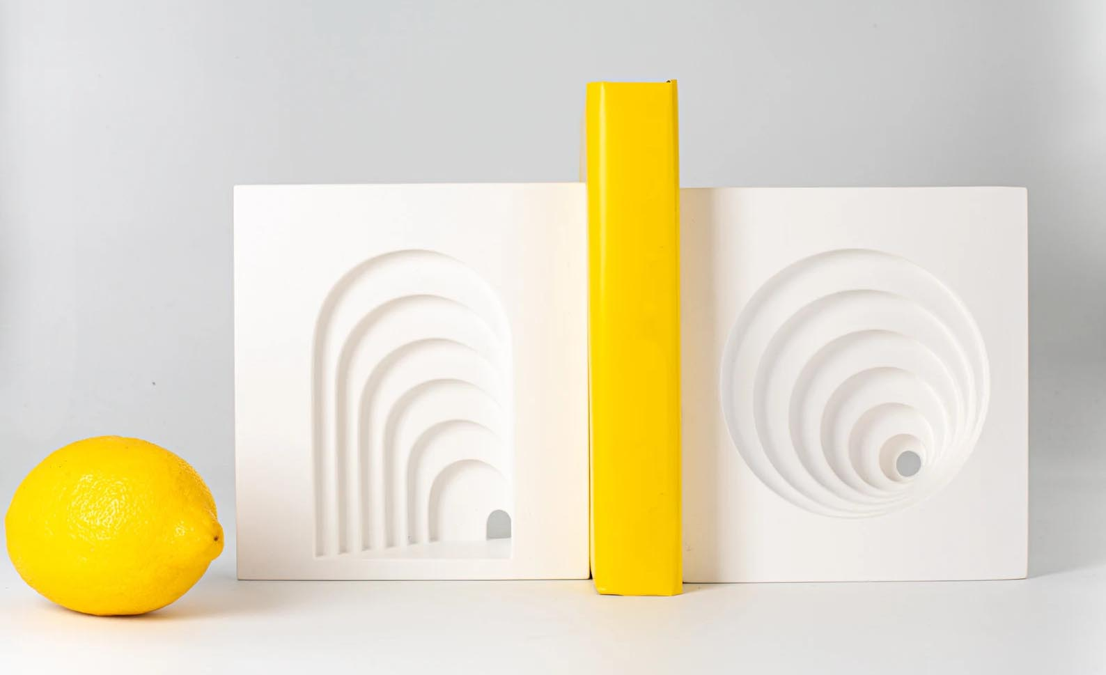 Modern Gift Ideas - Architectural plaster bookends.