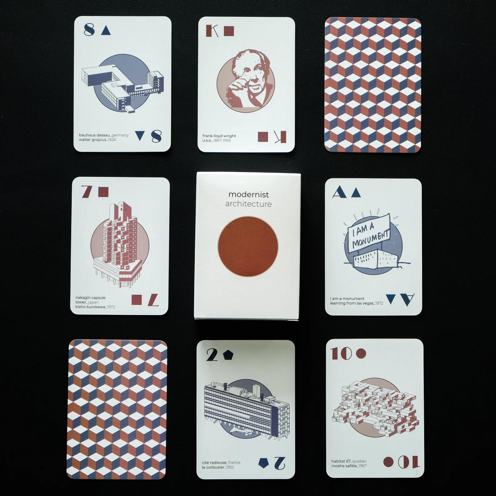 Modern Gift Ideas - Modernist Architecture playing cards.