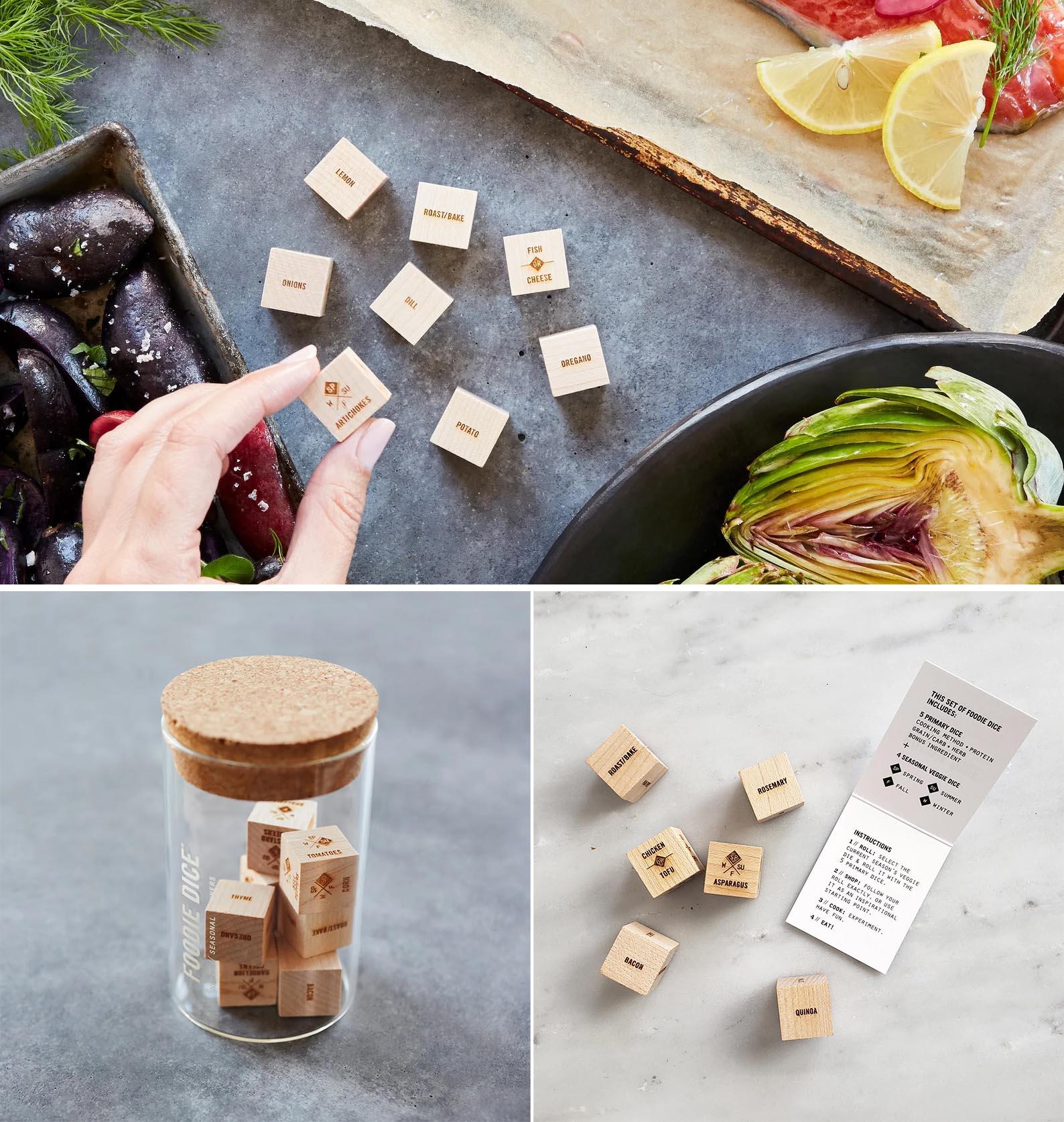 Modern Gift Ideas - Foodie Dice for helping to choose menus.
