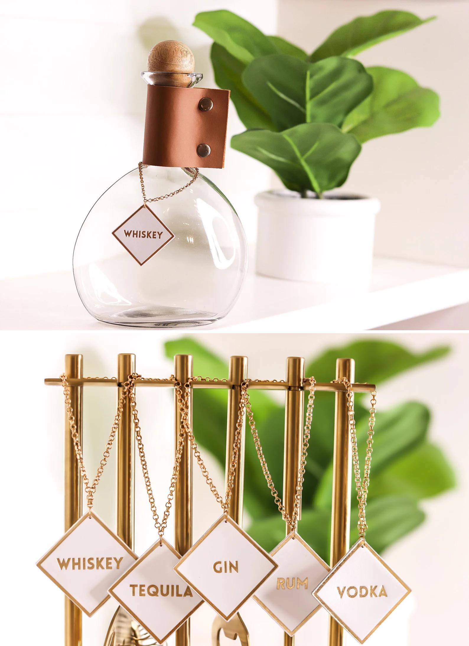 Modern Gift Ideas - Mixology Decanter Bar Tags.