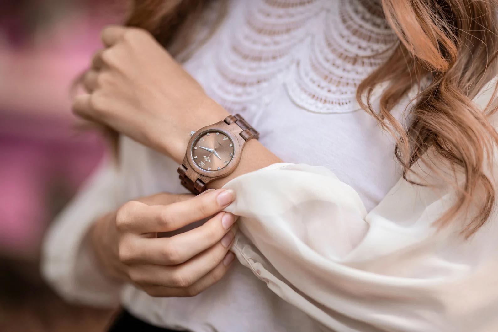 Modern Gift Ideas - Walnut wood watch.